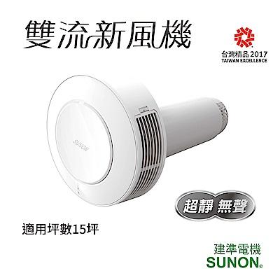 SUNON建準|Flow2One 雙流新風機|活氧換氣過濾|可依牆厚選擇尺寸