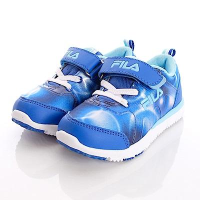 零碼-19cm FILA頂級童鞋 宇宙星光運動款 EI24O-343藍