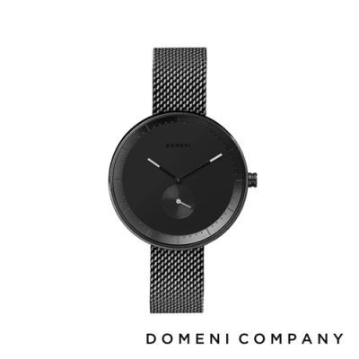 DOMENI COMPANY 經典系列 316L不鏽鋼單眼錶 黑色錶帶 -黑/32mm
