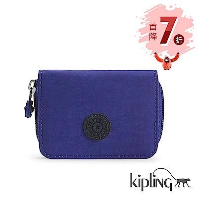 Kipling 短夾 靛紫素面-小