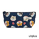 uhplus Q-plus萬用收納包 – 卡哇伊柴犬(藍)