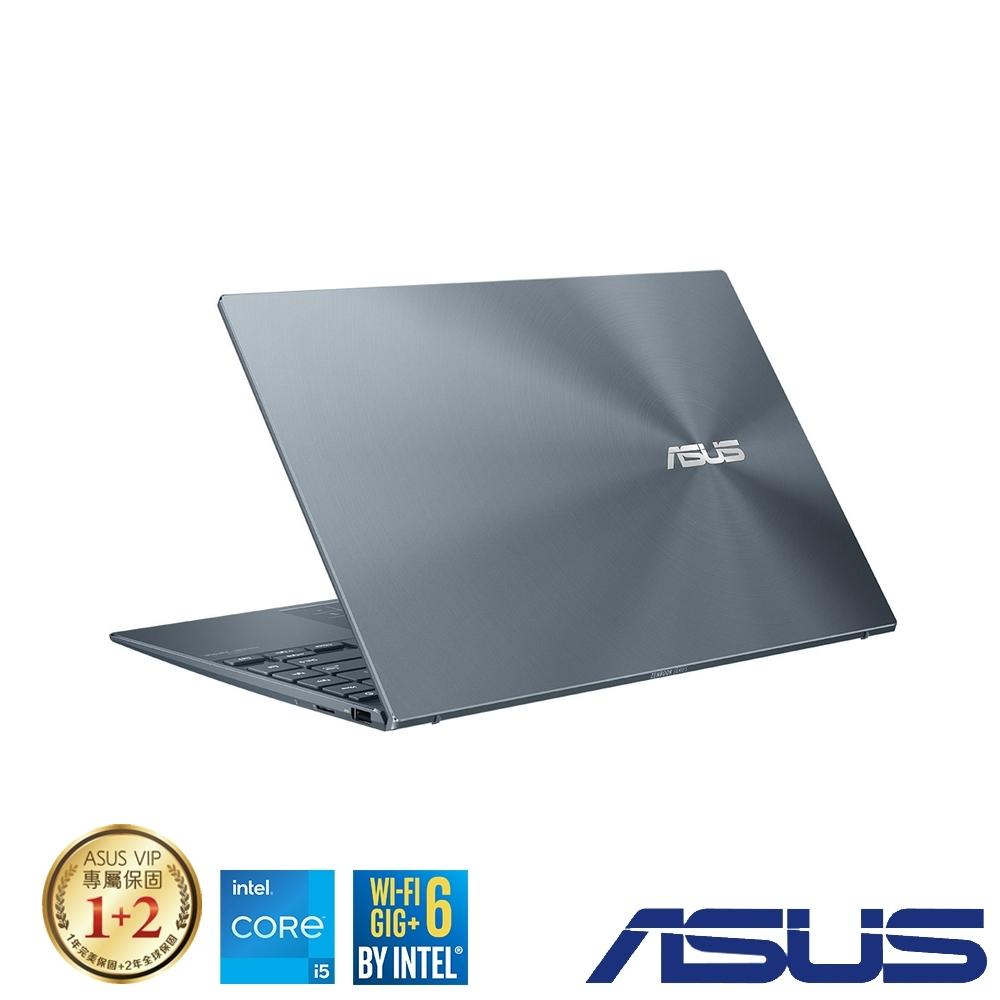 (附M365 15個月)ASUS UX425EA 14吋筆電 (i5-1135G7/16G/512G SSD/ZenBook 14/綠松灰)