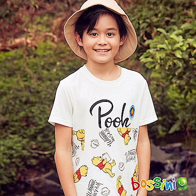 bossini男童-小熊維尼印花短袖T恤06灰白