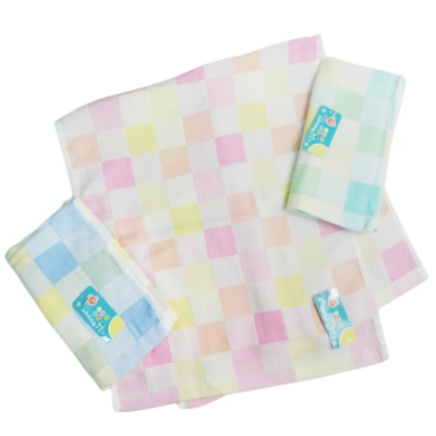 格子純棉毛巾-6159/彩色格紋純棉毛巾-6028-12入