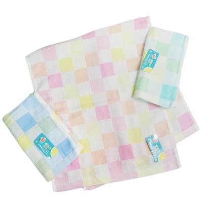 彩色格紋純棉童巾-8028/格子純棉童巾-8159-12入組