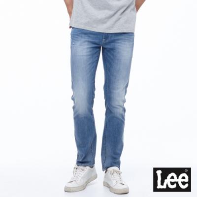 Lee 牛仔褲 722 低腰合身直筒 男 中淺藍 彈性+涼感及破壞設計