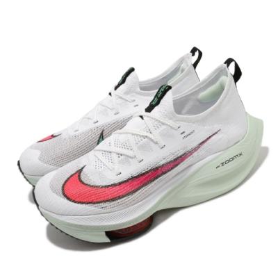 Nike 慢跑鞋 Alphafly Next 頂級 男鞋 Zoom 套腳 避震 路跑 球鞋 白 綠 CI9925100