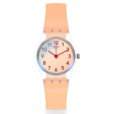 Swatch 菁華系列手錶 CASUAL PINK 自在粉紅-25mm