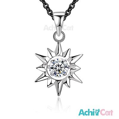AchiCat 925純銀項鍊 守護之神 太陽 跳舞石