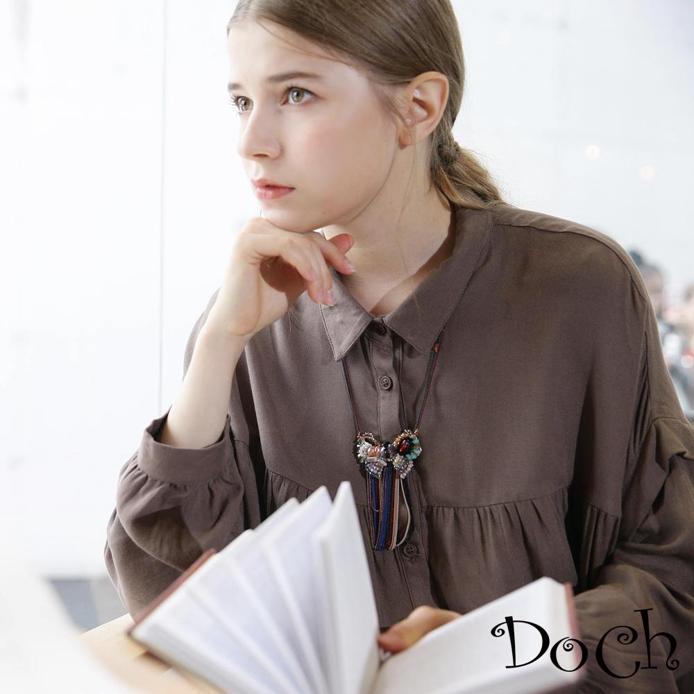 【Doch】浪漫特殊寬袖襯衫(共兩色)