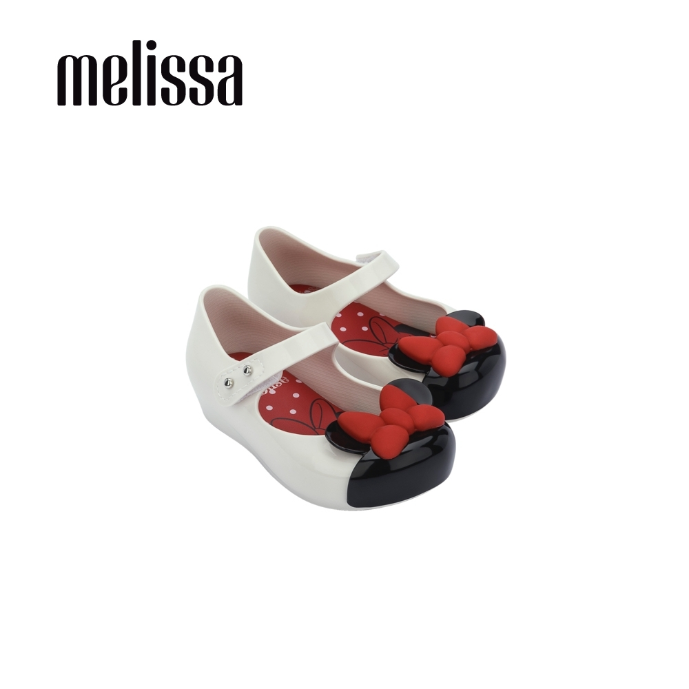 Melissa x MICKEY AND FRIENDS 蝴蝶結娃娃鞋 寶寶款-白