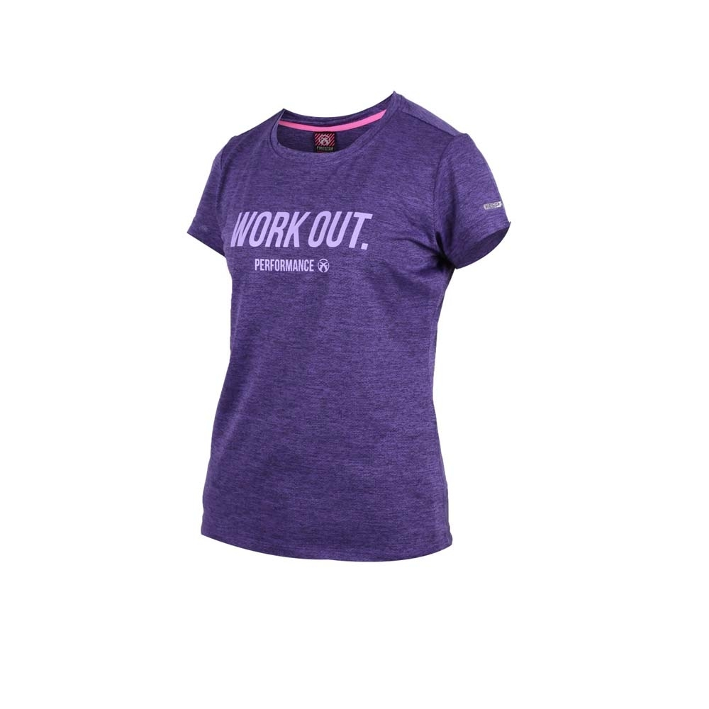 FIRESTAR 女吸濕排汗圓領短袖T恤-慢跑 路跑 紫