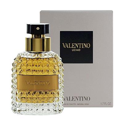 Valentino 范倫鐵諾 同名男性淡香水 50ml Uomo EDT