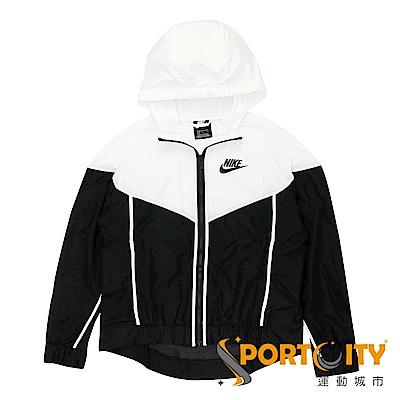 NIKE  女 連帽外套  黑/白 883496011