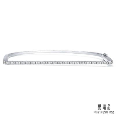 點睛品 Daily Luxe 30分 簡約俐落 18K金鑽石手環_05