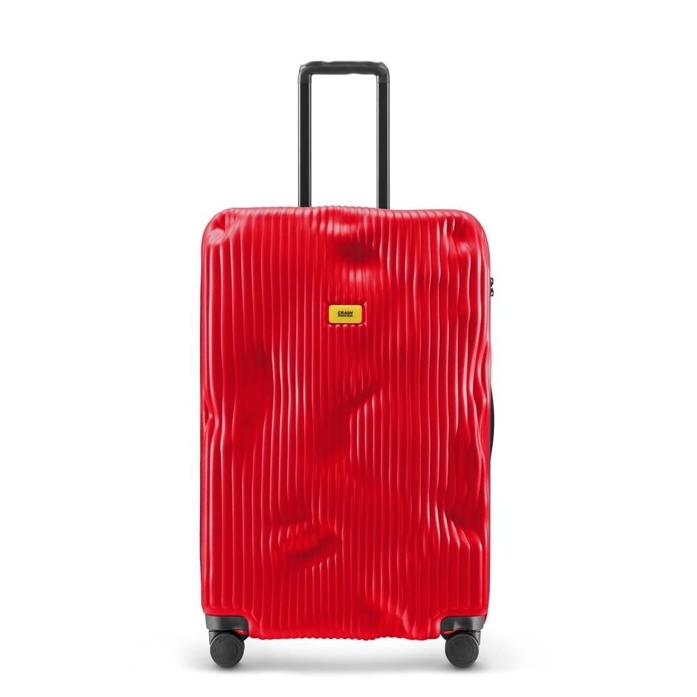 【Crash Baggage】Stripe拉鍊款29吋條紋紅防撞行李箱