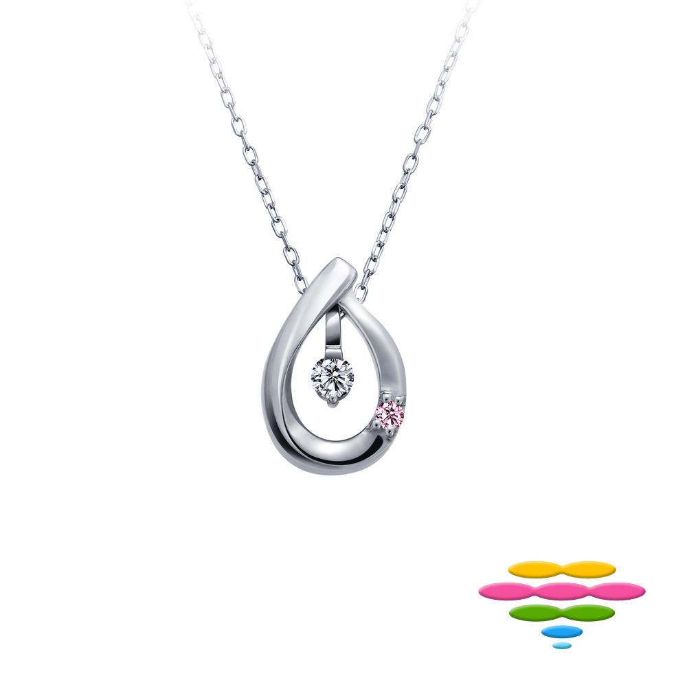 彩糖鑽工坊 水滴 鑽石項鍊 小確幸系列 (日本10K輕珠寶)