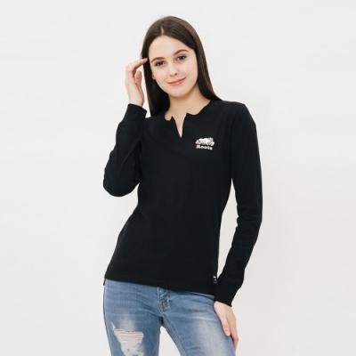 女裝ROOTS- 周年系列長袖T恤-黑色