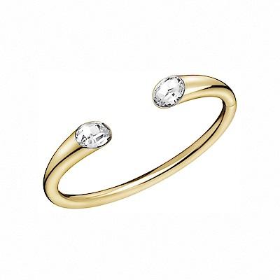 CALVIN KLEIN Brilliant 系列閃耀香檳金晶鑽手環-XS