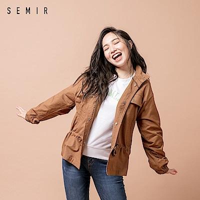 SEMIR森馬-中性造型可縮腰風格親膚棉夾克-女