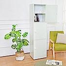 Birdie南亞塑鋼-1.5尺三門塑鋼收納櫃/置物櫃(白色)-43.5x40x168.5