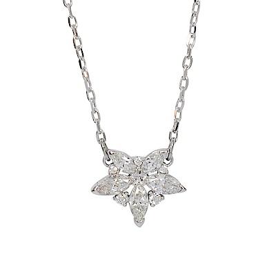 SWAROVSKI 施華洛世奇 璀璨水晶花朵造型水晶銀色項鍊