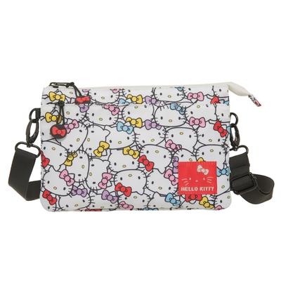 【Hello Kitty】繽紛凱蒂-雙層側背包-白 KT01V03WT