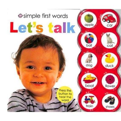 Simple First Word:Let s Talk 一起唸唸看硬頁有聲書(美國版)