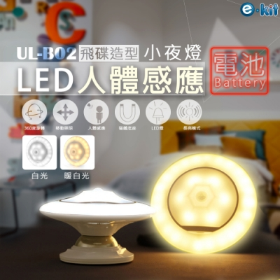 逸奇e-Kit 電池款人體感應UFO款360度隨身小夜燈-共兩色 UL-B02