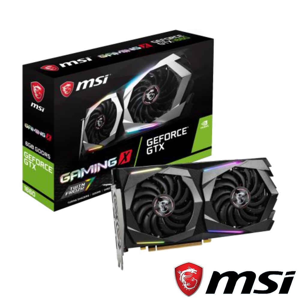 MSI微星 GeForce GTX 1660 GAMING X 6G顯示卡