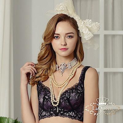 內衣  全蠶絲無感胸托成套內衣-紫 La Queen
