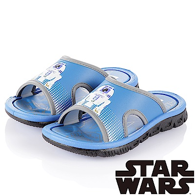(雙11)StarWars 星際大戰 舒適拖鞋童鞋-藍(中大童)