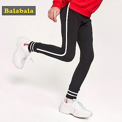 Balabala巴拉巴拉-側邊寬條壓線合身運動褲-女(2色)