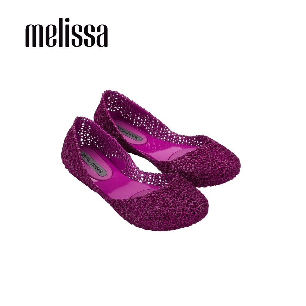 Melissa x Campana聯名 鳥巢平底鞋 紫