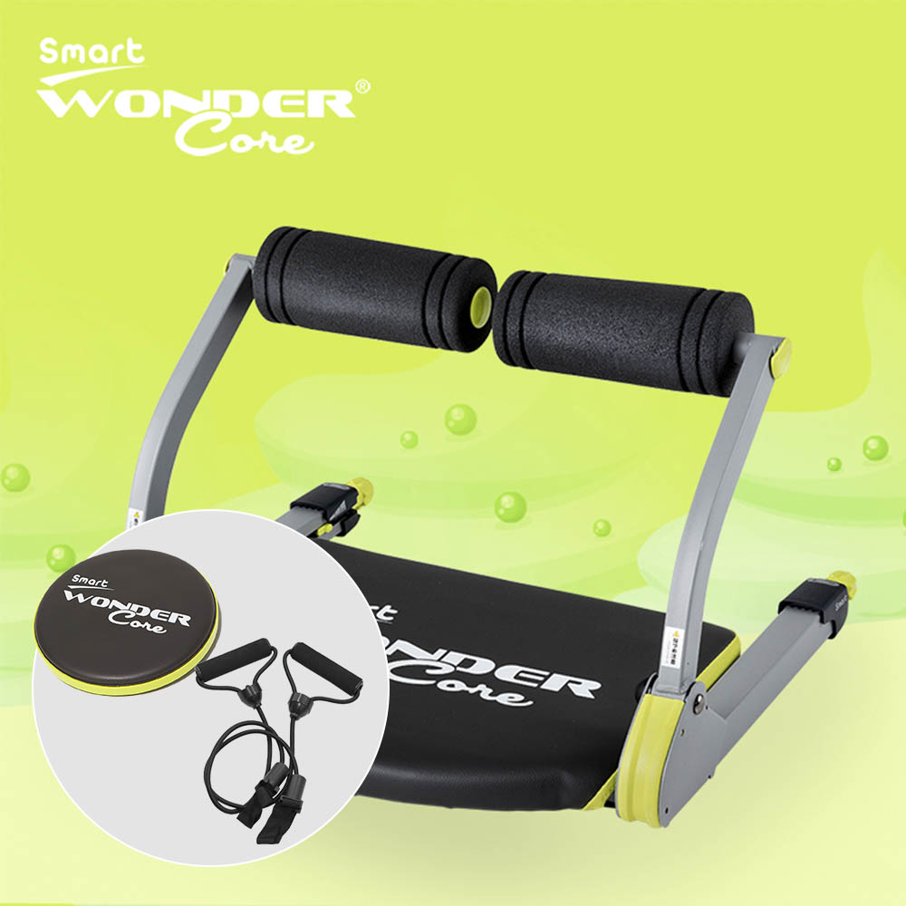 Wonder Core Smart 全能輕巧健身機-嫩芽綠+扭腰盤(綠)+拉力繩 @ Y!購物