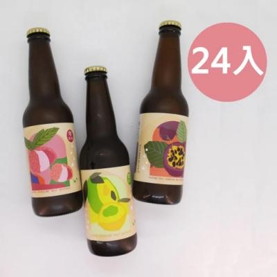 picky digger嚴選 格外農品 台灣真水果氣泡麥汁箱 330mlX24入(荔枝X8 + 百香果X8 + 檸檬 X8 )