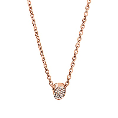 CALVIN KLEIN Brill 系列優雅水晶玫瑰金項鍊