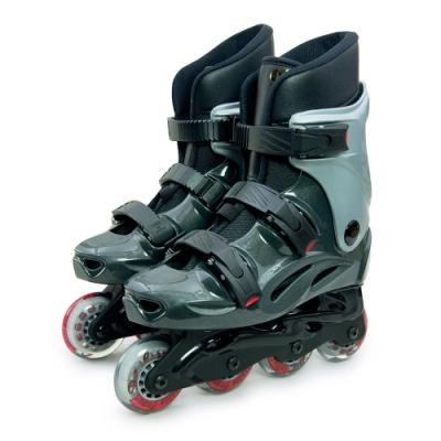DLD多輪多 高塑鋼底座 專業直排輪 溜冰鞋 鐵灰銀 530 附贈三角背包