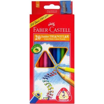 FABER-CASTELL 大三角色鉛筆 20色