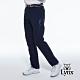 【Lynx Golf】男款瑞士3XDRY吸濕速乾防潑水素面大腿拉鍊設計平口休閒長褲-深藍色 product thumbnail 2