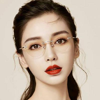 MOLSION光學眼鏡 Angelababy代言/銀 #MJ7073 B90