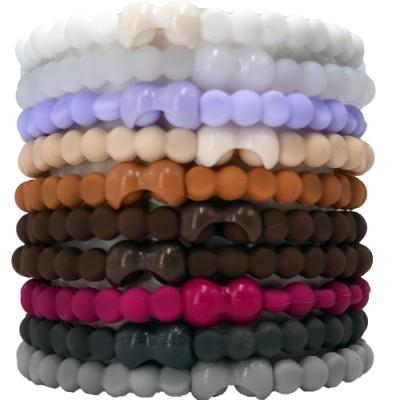 Pro Hair Tie 扣環髮圈10件組-莫蘭迪混色