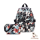 B.S.D.S冰山袋鼠 - 楓糖瑪芝 - 經典大容量時尚後背包+側背小包2件組 - 熱帶雨林