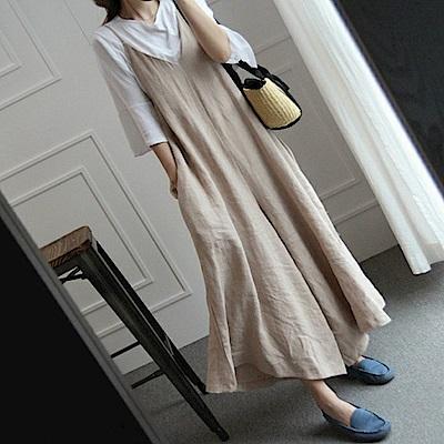 初色  寬鬆休閒連身褲-共2色-(M-XL可選)