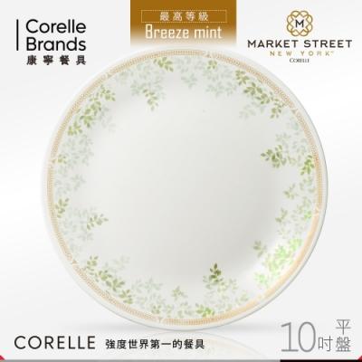 美國康寧 CORELLE 微風薄荷10吋平盤