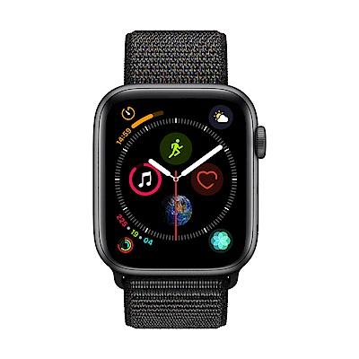Apple Watch Series 4(GPS) 44mm太空灰色鋁金屬錶殼+黑色錶環