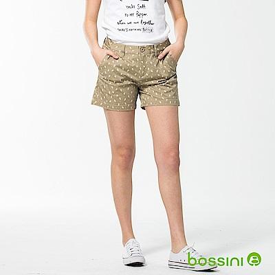bossini女裝-休閒印花短褲01卡其