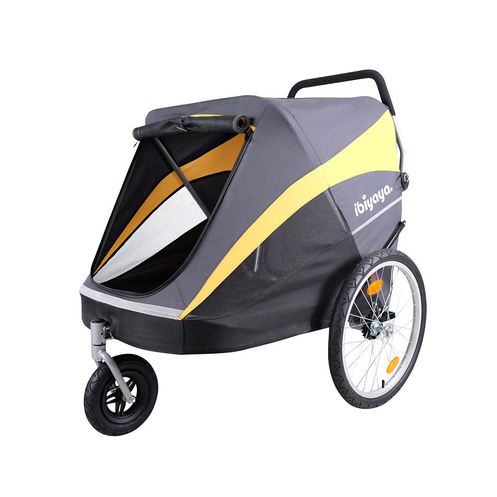 IBIYAYA依比呀呀-黃金巴士充氣胎寵物推車