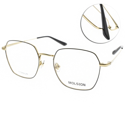 MOLSION 光學眼鏡 Angelababy代言 黑-金  # MJ1006 B12