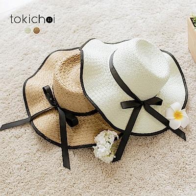 東京著衣 氣質名媛波浪邊草帽(共二色)